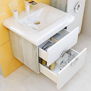 Тумбы с раковиной для ванных комнат